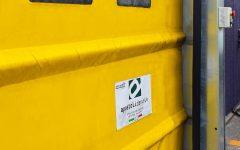 Porta rapida ad impacchettamento automatico F30 gialla