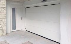 Porta garage sezionale bianca large