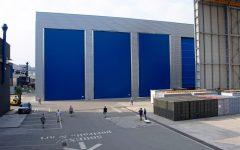 Porte industriali grandi dimensioni Sail Door colore blu